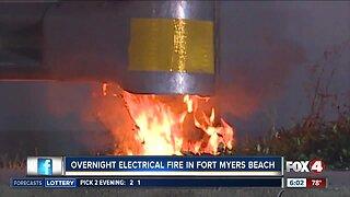 Fort Myers Beach power pole fire