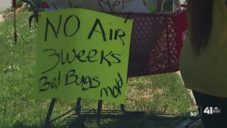 KCMO apartment complex without air conditioning
