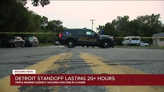 Detroit standoff lasting more than 20 hours