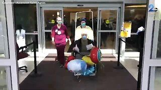St. Agnus Hospital staff form human tunnel to celebrate 100th COVID-19 discharge