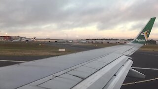 SOUTH AFRICA - South Africa - Cape Town - Stock - Take-off at Cape Town International Airport (Video) (w7J)