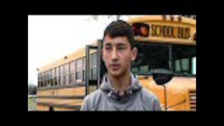 After Bus Driver Starts Swerving Erratically, One Student Takes Matters Into His Own Hands