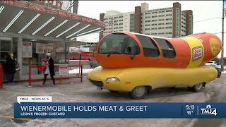 "Wienermobile holds ""meat & greet"" at Leon's Frozen Custard"