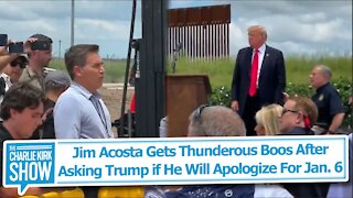 Jim Acosta Gets Thunderous Boos After Asking Trump if He Will Apologize For Jan. 6