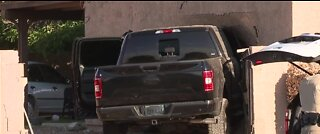 LVMPD: Truck crashes into house