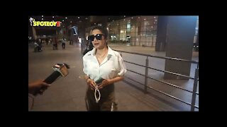Prabhas & Tina Dutta spotted at the Airport   SpotboyE