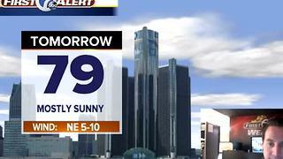 Metro Detroit Forecast: Warm and sunny today