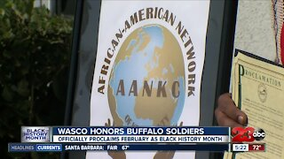 The City of Wasco honored Black History Month by paying tribute to the Buffalo Soldiers