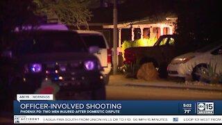 Two men hurt after domestic dispute, police shooting in Phoenix