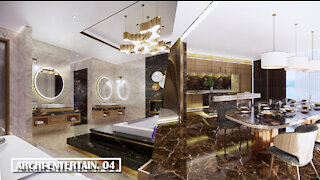 Presidential Suite of 5 star hotel luxury interior design (by Enscape)