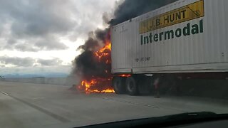 Semi fire closes I-41 northbound lanes near County G