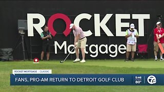 Fans, Pro-Am return to Rocket Mortgage Classic