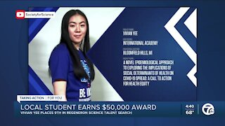 Local student's COVID research is already making a difference