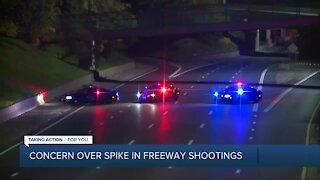 Concern over spike in freeway shootings