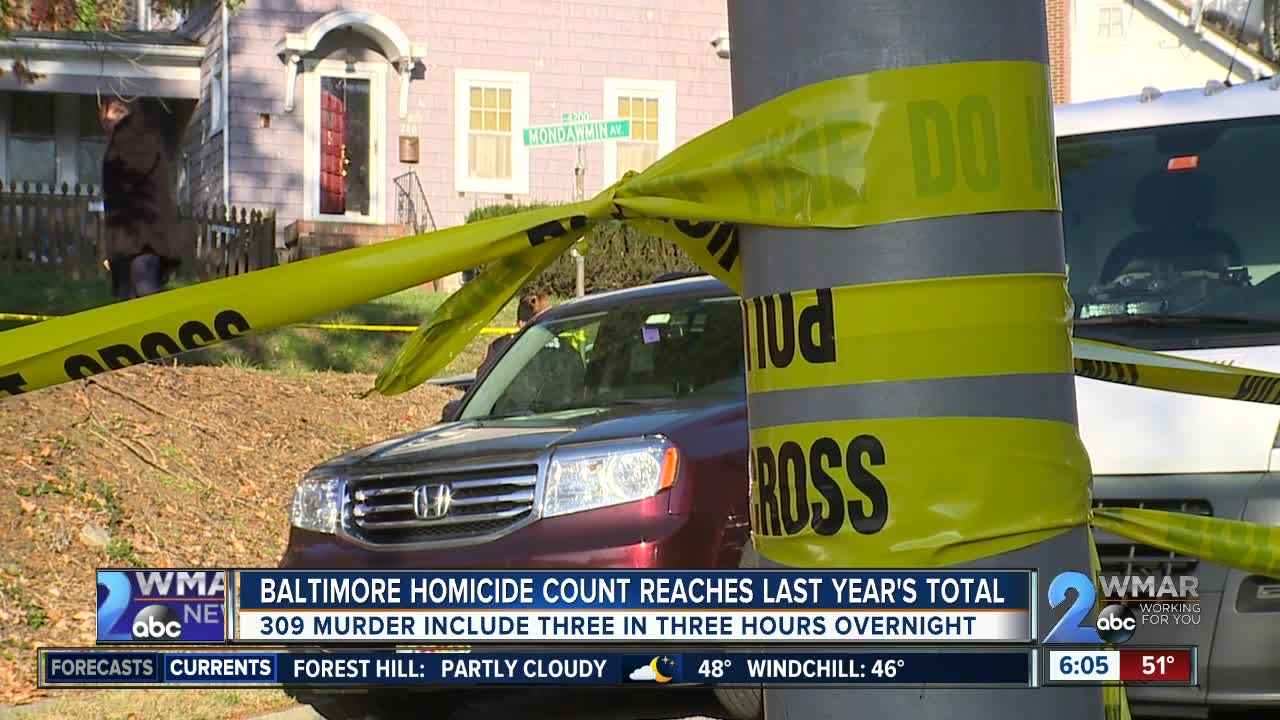 Three killed in three hours overnight in Baltimore