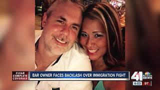 Bar owner faces backlash over immigration fight