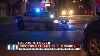 All clear given at Polk County Court House, package deemed not suspicious