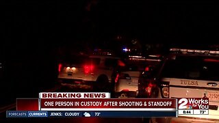 One person in custody after shooting and standoff in Tulsa