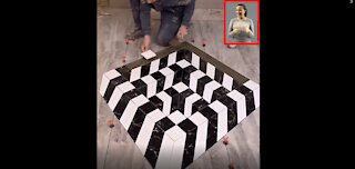 Young Man With Great 3D Tiling Skills 2022