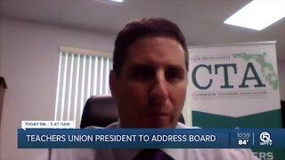 Palm Beach County teachers' union president to address school board on Wednesday