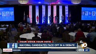 San Diego Mayoral candidates meet in debate