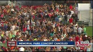 Memorial Park concert canceled