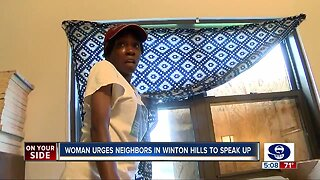 Woman urges Winton Hills neighbors to speak up about violence