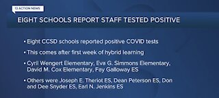 8 schools report staff who tested COVID-19 positive after week 1 of hybrid learning, CCSD says