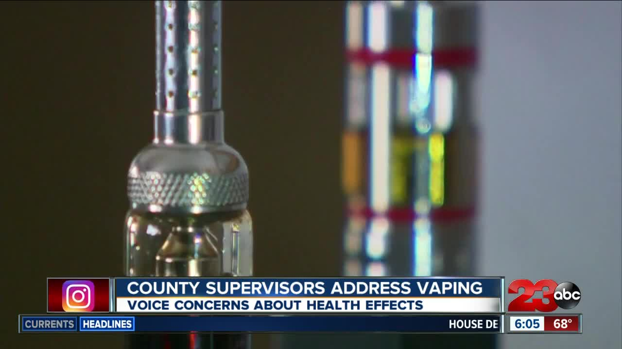 Kern County Public Health gives Board of Supervisors presentation on vaping and tobacco