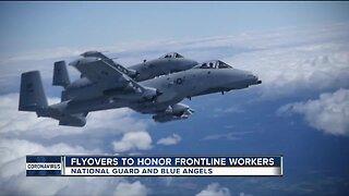 Michigan Air National Guard, Blue Angels to perform flyover of Michigan