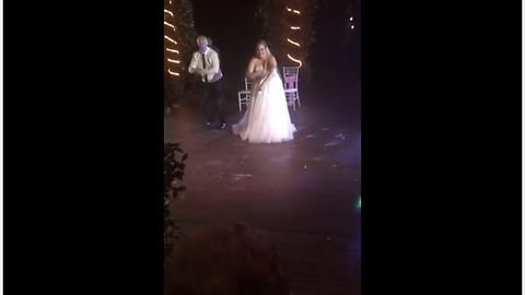 Awesome surprise father-daughter wedding dance