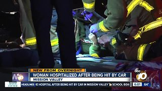 Woman struck by car in Mission Valley