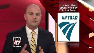 Jackson man struck, killed by Amtrak train