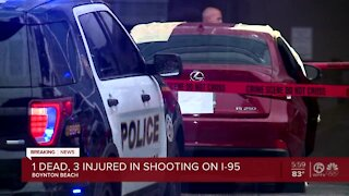 1 dead, 3 injured in shooting on I-95