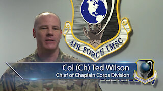 An AFIMSC 2021 New Year Greeting From Chaplain Wilson