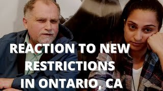 Rajie & Rocco Impromptu Video Reaction to New Restrictions in Ontario, CA