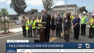 San Diego Mayor Faulconer mulls run for California governor