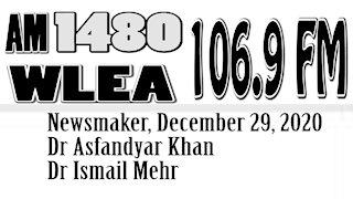 Wlea, Newsmaker, December 29, 2020, Dr Asfandyar Khan, Dr Ismail Mehr