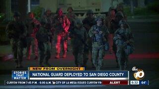 Portion of National Guard deployed to La Mesa