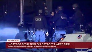Detroit police: Gunman takes hostages inside home