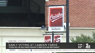 Early voting at Camden Yards