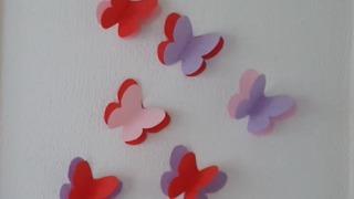 How to make paper butterflies DIY