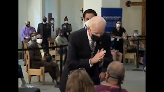 Biden Leans Inches from Woman's Face, Then Tells Her to Social Distance