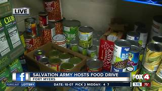 Salvation Army hosts food drive - 7am live report