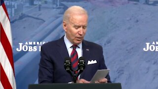 Biden Uses Notes from Pocket to Read Basic Talking Points About Taxes During Speech