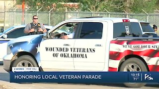 Local veteran honored with drive-by parade