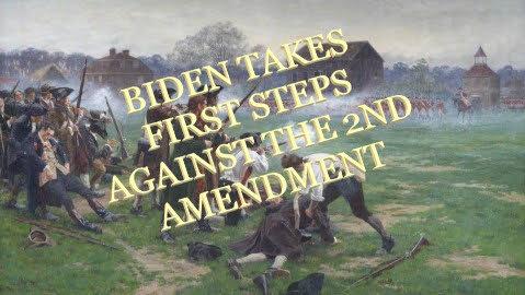 Biden takes first shot at the 2nd Amendment.
