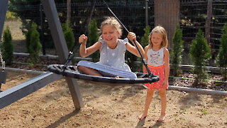 Thrill-Seeking Sisters Like to Spin Around Really Fast