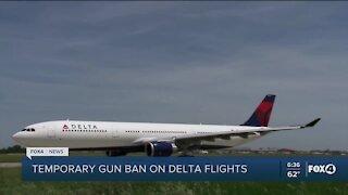 Airlines banning guns