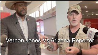 Vernon Jones debates clueless Az. Reporter. And Bernie comments too.